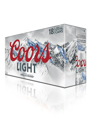 Coors Light 18 Pack Cans