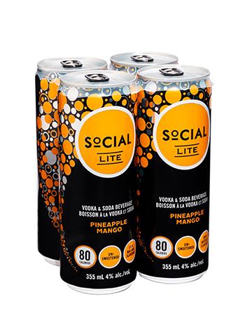 Social Lite Pineapple Mango Vodka Soda