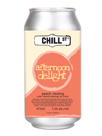 Afternoon Delight Peach Riesling Wine Cider Blend
