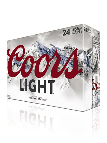 Coors Light 24 Pack Cans