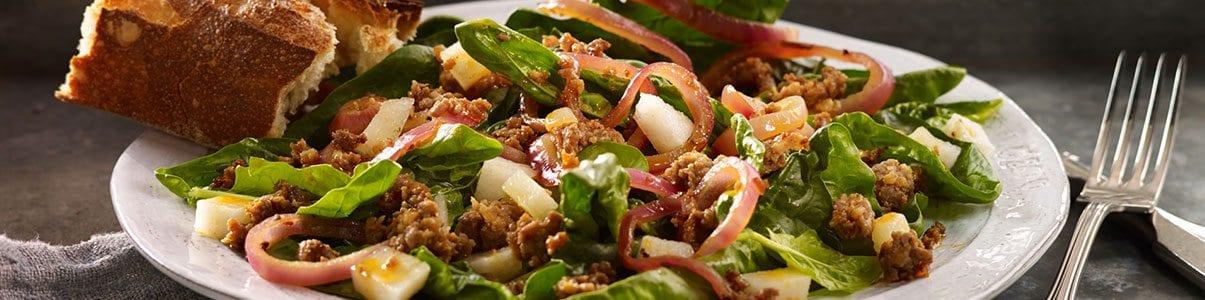 Spinach-Chorizo-Salad