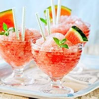 Vodka, Mint and Watermelon Granita