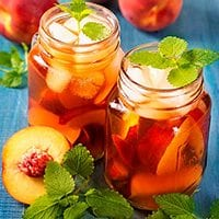 Bourbon Peach Iced Tea