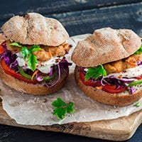Grilled Salmon Burgers with Asian Sesame Slaw